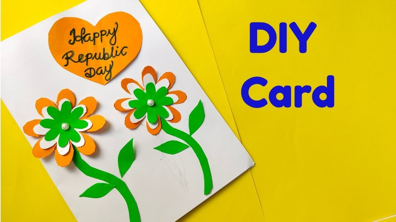 How to make Republic Day Greeting card. Republic Day Craft ideas for kids
