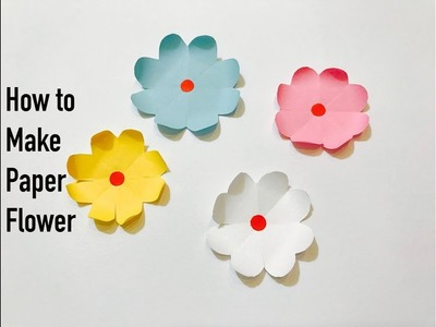 How to make simple paper flower : DIY : Craft