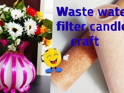 How to reuse filter water candle craft idea at home.craftzone4u.waste water filter candle craft