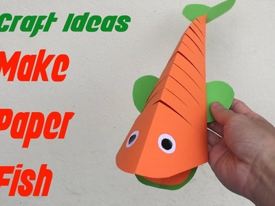 Make paper Fish - Papier fisch | Craft Ideas | Mr Simple