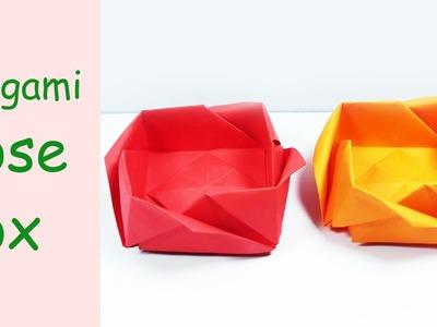 Origami Rose Box | Origami rose box, Origami rose, Origami gift box | 300x400