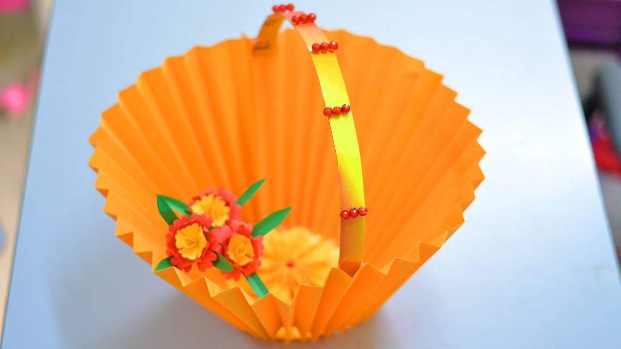 Paper Basket Simple Life Hacks Paper Craft Waste Material