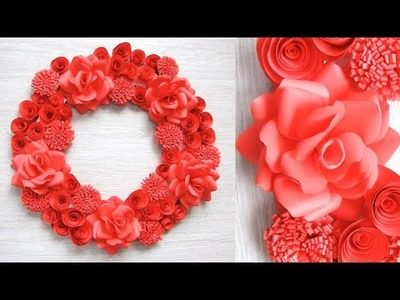 Paper Wall Hanging Craft Ideas - Paper Flower - Paper Craft - Paper Wall Decoration. g
