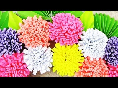 Simple Paper Flower Wall Hanging- DIY Paper Craft - Wall Decoration ideas.  L