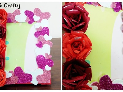 Valentine's Day Gift Idea.Easy Valentines or Anniversary Craft Idea.DIY Photo Frame. Room Decor