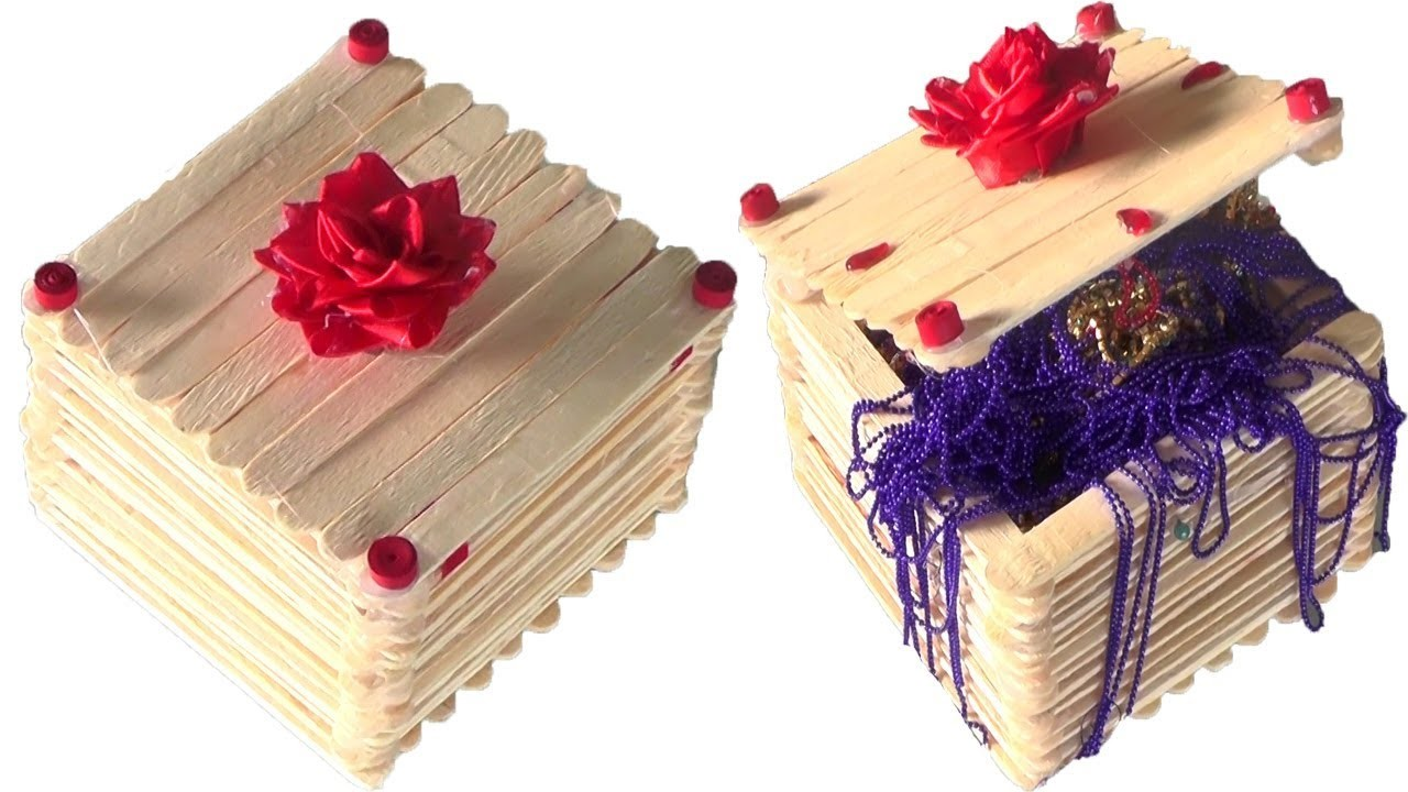 Very Good Looking Popsicles Sticks Jewelry Box Craft How To