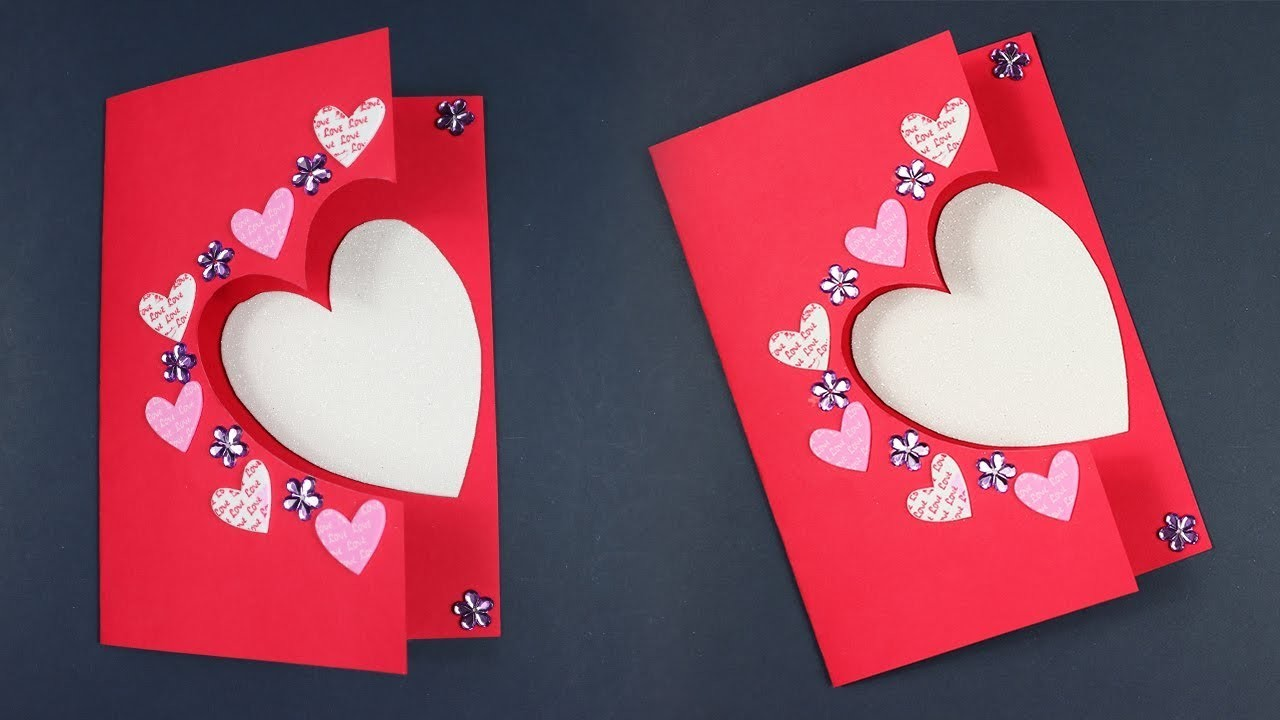Beautiful Handmade Valentine's Day card idea | DIY Greeting Cards for Valentine's day card