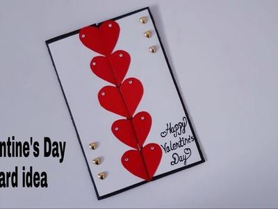 Beautiful Handmade Valentine's Day card idea | DIY Greeting Cards for Valentine's day card.