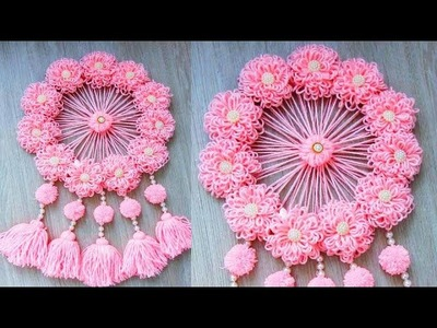 Best out of waste woolen Craft ideas.How to Make Door Hanging With Woolen and Card Board.Diy Ideas
