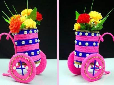 Best out of WASTEMEDICIN Bottle bottle craft. Make Plastic Bottle Vase in Easy Way - BOTTLE CRAFT