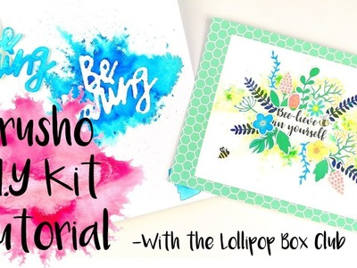 Brusho D.I.Y Kit Tutorial With The Lollipop Box
