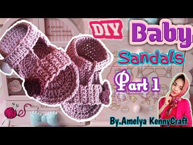 CROCHET || DIY Baby Flip sandals tutorial part 1