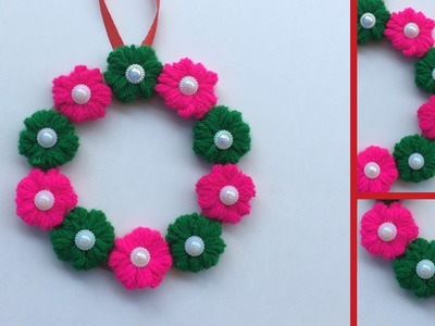 DIY Best out of waste.cool craft idea.old Bangles.Easy Flower Embroidery.wall hanging