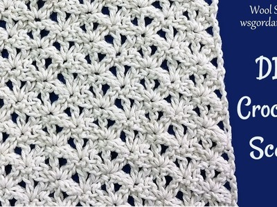 DIY Crochet Scarf Lace Pattern or other projects (Šal -  Heklana mustra)