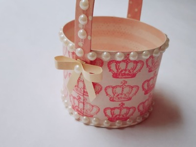 DIY Cute Tiny Basket | Craft Nifty Creations
