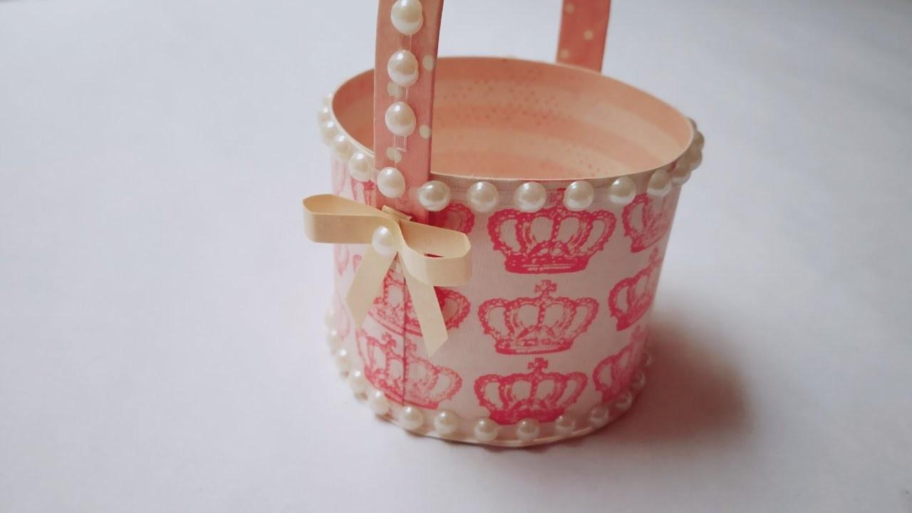 DIY Cute Tiny Basket   Craft Nifty Creations