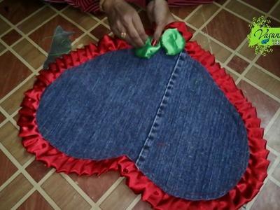 DIY Door Mat With Fabric Cloth Pieces || How To Make Door Mat At Home