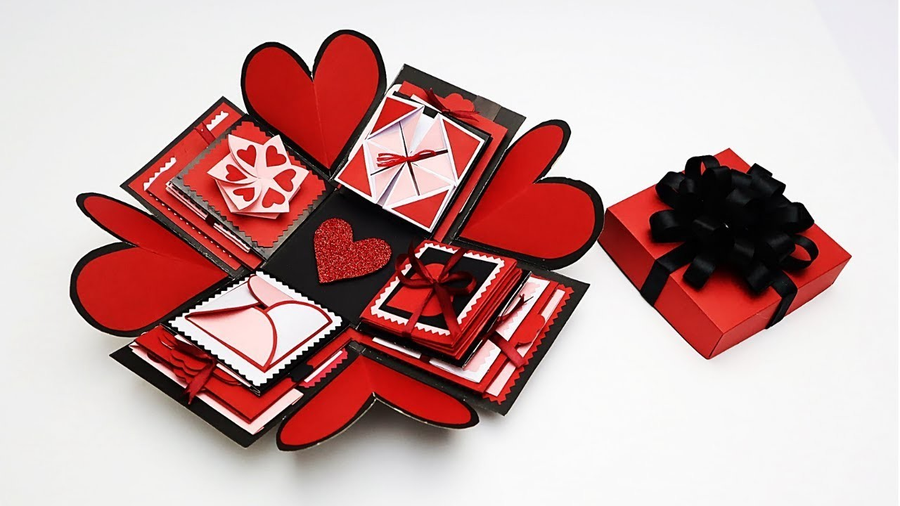 DIY Explosion Box Idea for Anniversary. Valentine's Day   Explosion Box Tutorial