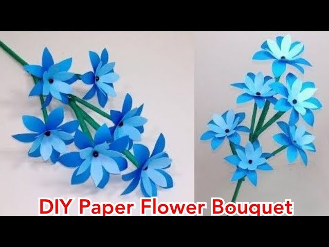 DIY Flower Making | How to make Paper Flowers Easy step by step at home