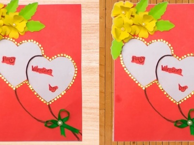 DIY Greeting Cards Easy Tutorial | Beautiful Handmade Valentine's Day Card Idea | Kagojer Hater Kaj