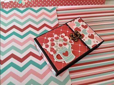 DIY ideas para regalar en San Valentín Mini Album scrapbook tutorial