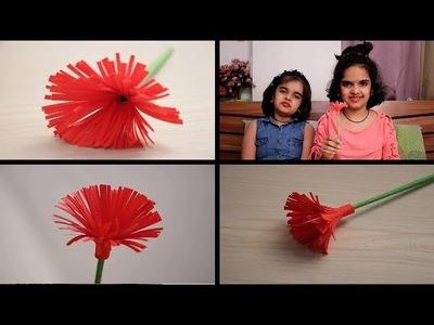 DIY Paper Flower || easy craft ideas for kids || SaanveeKhushee | Easy paper flower
