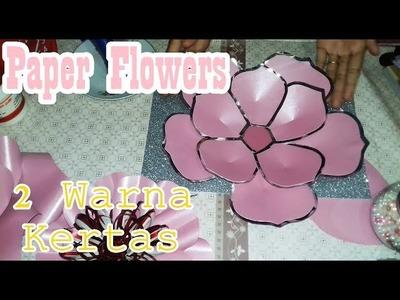 DIY PAPER FLOWERS Pake 2 Warna Kertas by Farida FR