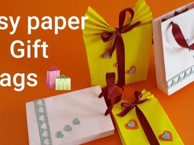 DIY paper gift bag at home l how to make a paper bag easy diy