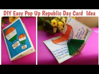 Diy Pop-up Republic Day Card Tutorial | How to make #republicdaycard Idea #handmadecard #26january