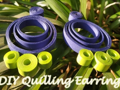 DIY Quilling Earrings| BeCre8ive