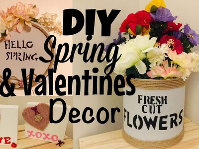 DIY RUSTIC.COUNTRY.FARMHOUSE SPRING.VALENTINES DAY DECOR | HOW TO | TUTORIAL | ROMANTIC HOME DECOR