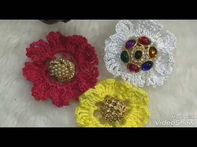 Diy tutorial   flor de crochê