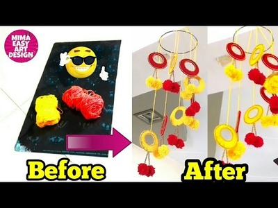 DIY -Wall Hanging Craft idea |Handmade craft project |Best use of waste X-ray and wool