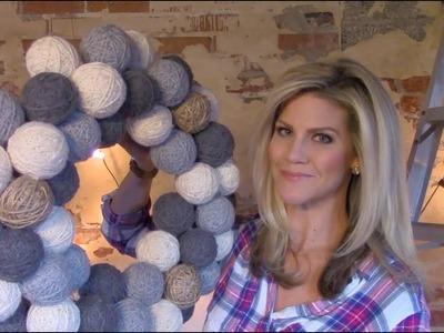 DIY Yarn Ball Wreath Tutorial (Winter Decor)