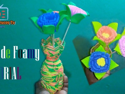 Flor de Foamy Tutorial DIY.CRAFTS Ideas y Trucos 2019