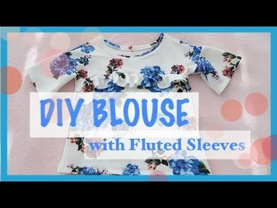 How to DIY make a Blouse  with Wide Sleeves Tutorial | Sewing For Beginners