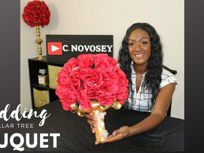 How to make a Bouquet with Silk Flowers and Brooches |  DIY Dollar Tree