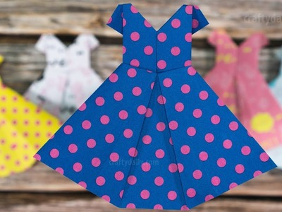 How to make an ORIGAMI PAPER DRESS - Mother's Day Crafts | Paper Craft Ideas