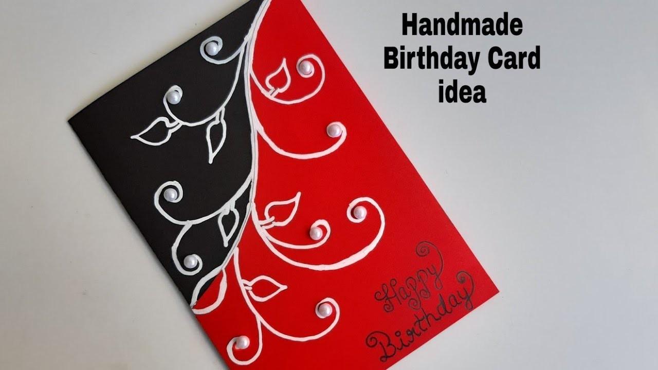 How to make Beautiful Handmade Birthday Greeting card   DIY Greeting cards idea for Birthday