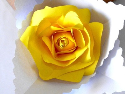 How To Make Beautiful Yellow Rose Paper Easy Flowers Craft DIY.