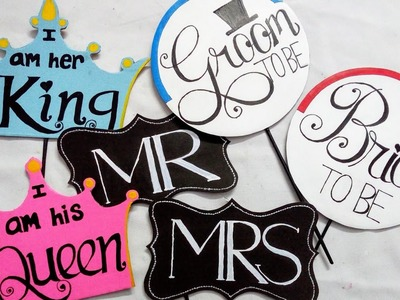 How To Make Wedding Props | Wedding Party Props | Photo Booth Board | DIY CraftsLane