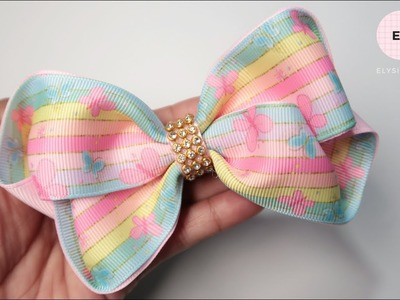 Laco de Fita ???? Ribbon Bow Tutorial #8 ???? DIY by Elysia Handmade