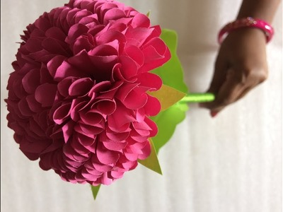 Making Colourful Dahlia Flower With Colour Paper | DIY | V & N Creations