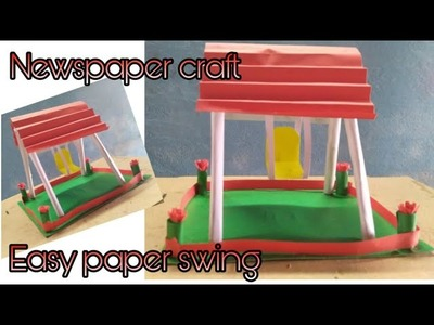 Newspaper swing craft. Paper craft. easy paper swing. easy paper craft