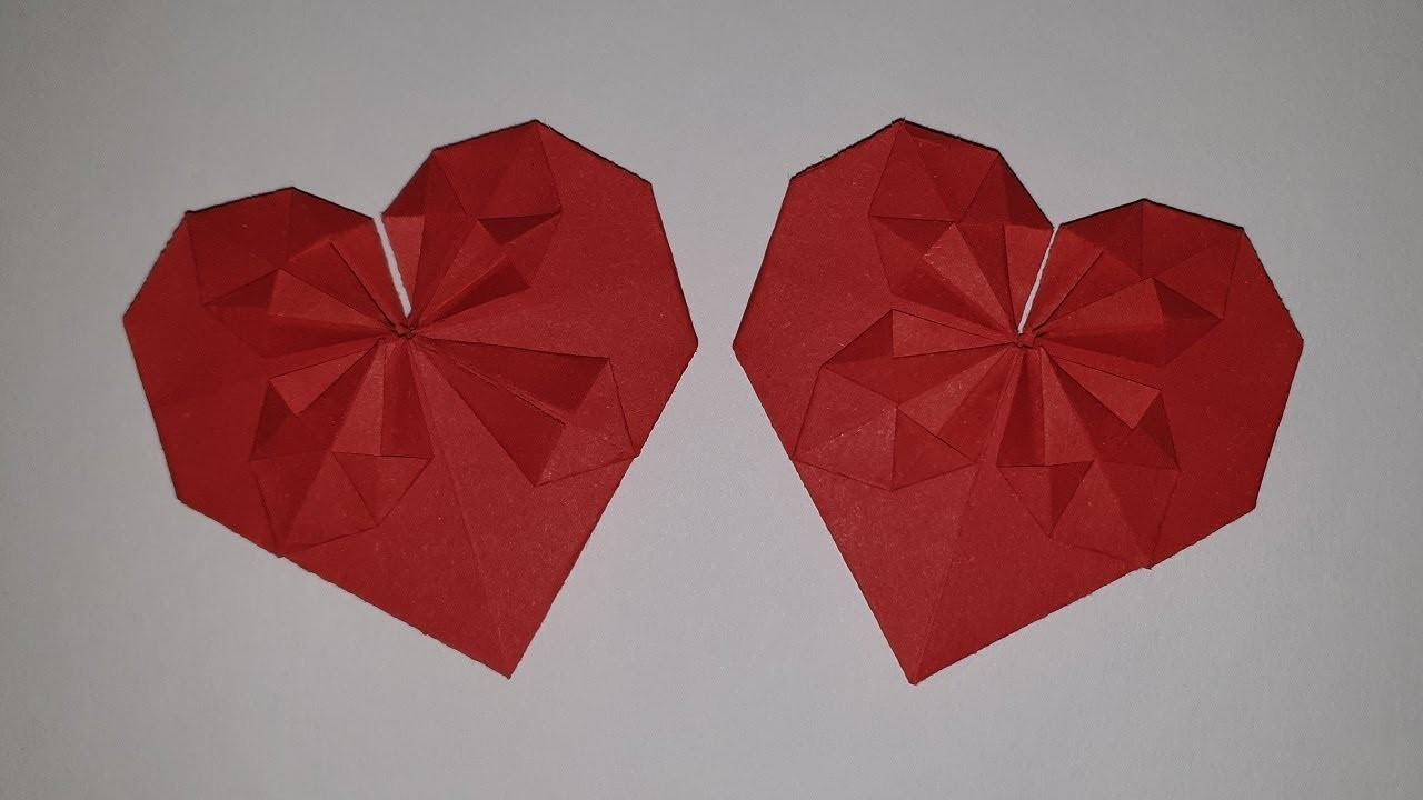 Рошаль день, открытка ко дню святого валентина оригами