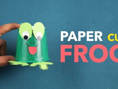 Paper Cup Frog | How To Make Paper Cup Frog For Kids | DIY Paper Crafts | Craft For Children