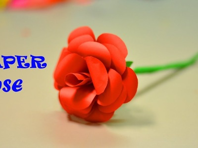 PAPER ROSE FLOWER |SIMPLE LIFE HACKS |PAPER CRAFT |WASTE MATERIAL REUSE IDEA |TRICKY LIFE |