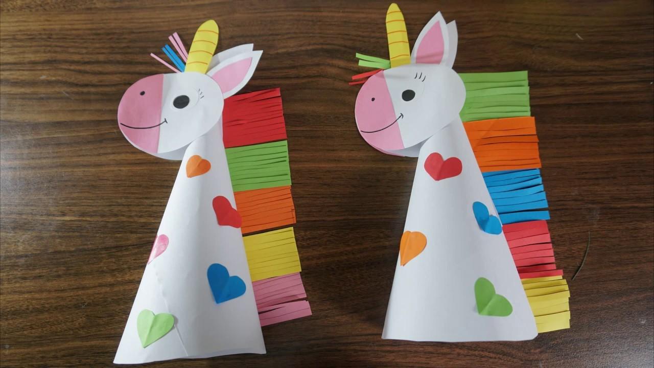 Paper unicorn crafts for kids    paper craft art