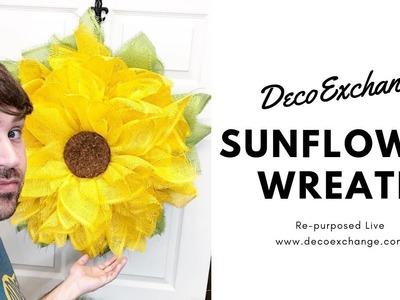 Sunflower Wreath   DIY Sunflower Wreath Tutorial