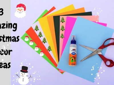 3 Amazing DIY Christmas craft ideas. Easy Paper crafts for home decor